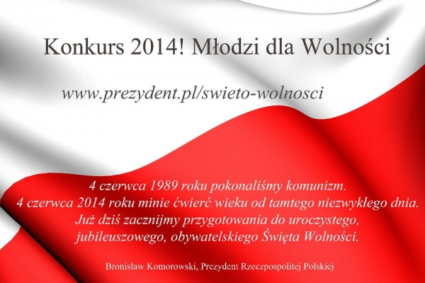 2014! Młodzi dla wolności